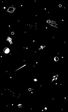 Space Phone Wallpaper, Night Sky Wallpaper, Black Background Wallpaper, Dark Wallpaper Iphone, Planets Wallpaper, Star Wallpaper, Kawaii Wallpaper, Cute Wallpaper Backgrounds, Pretty Wallpapers