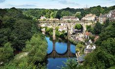 Railway viaduct over the river Nidd at Knaresborough, North Yorkshire, England, UK. Yorkshire England, North Yorkshire, England Uk, Story Of The Year, Over The River, Beach Walk, Romance, Europe, Explore