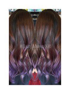 Lavender balayage Purple Hair Streaks, Ombre Hair, Purple Balayage, Bad Hair, Hair Day, Californian Hair, Lavender Hair, Hair Color And Cut, Mermaid Hair