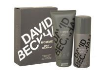Beckham Homme Gift Set Beckham Homme Gift Set for men is a fresh and spicy scent, opening with top notes of Sichuan pepper, ginger and citrus accords, blending with a heart of leather, rosemary and cashmere wood, all of which is rounded off with a base of musk, patchouli and mahogany. Gift Set includes: Body Spray 150ml and Hair & Body Wash 200ml
