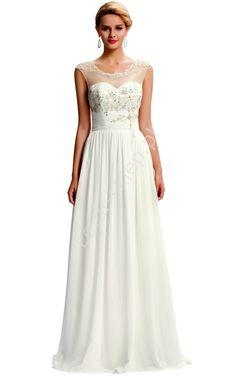 Długa biała sukienka ślubna | suknie ślubne