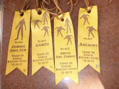 Laser Engraved ribbons for a Boy Scout event