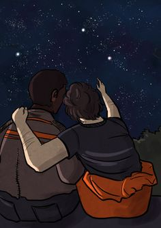 Finn x Poe- I love the stitched up jacket detail #StormPilot