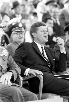 "thekennedyclan: ""JFK is amused (JFK visits the University of North Carolina and Fort Bragg, 1961) "" Awesome pics!"