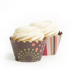Autumn Burst Reversible Cupcake Wrappers