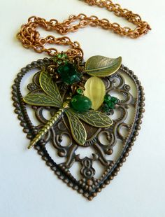 Fairyland  Reclaimed Vintage Jewelry Pendant by ArtBoxCreations, $25.00