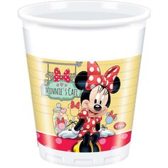 Vasos desechables #Minnie de #Disney. Pack de 8 unidades.