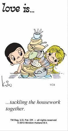 amor es - abordar las tareas del hogar juntos..