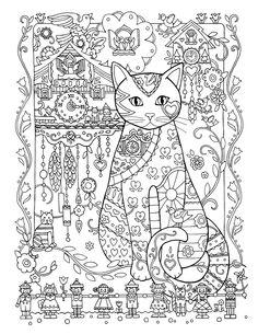 Creative Cats Colouring Book ~ Cuckoo Clocks by Marjorie Sarnat