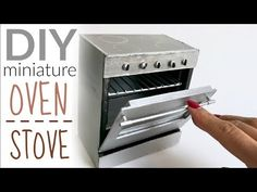 DIY: dollhouse oven / miniature stove - YouTube