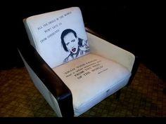 Tutorial - Stoff mit Wandfarbe streichen / Designer Sessel - selbstgemacht - YouTube