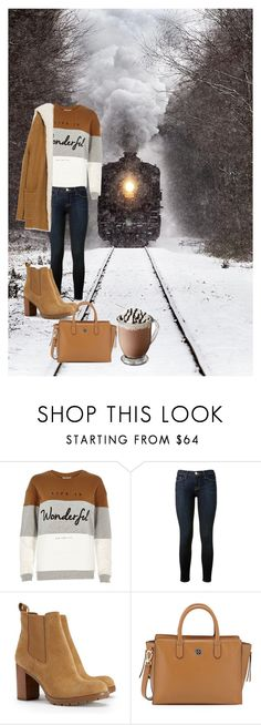 """""""Train rides"""" by mac24 ❤ liked on Polyvore featuring River Island, Frame Denim, Tory Burch and Zara"""