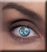 Mirrored contact lenses. Like Riddick!
