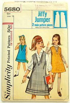 Child Size 14 Jiffy One-Piece Dress or by AttysSproutVintage
