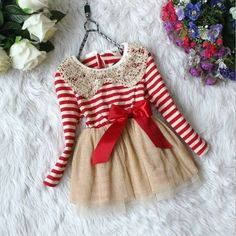 Red+Stripe+Gold+Tutu+with+gold+sequin+peter+pan+collar.+Pair+with+cute+ivory+leggings!+Totally+adorable!++