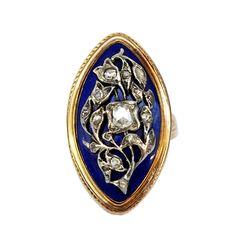 Georgian Enamel Diamond Ring