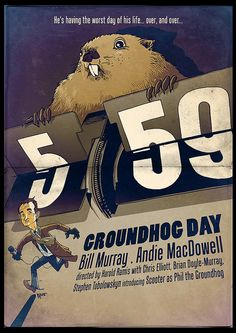 Groundhog Day poster movie