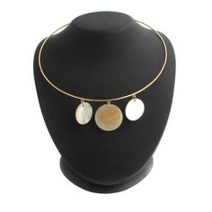 Joan Rivers Goldtone Floating Shells on Hardwire Necklace + Black Diamond #JoanRivers #Wire