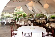 Reception pavilion at Pala Mesa Resort