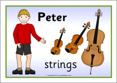 Peter and the Wolf character and instrument posters (SB9967) - SparkleBox