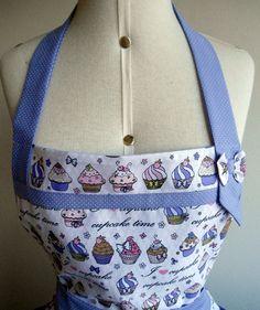 Avental Cupcake, forrado em tecido 100% algodão. Jardin de Fil