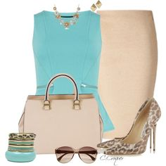 Classy Tiffany Blue, created by ccroquer on Polyvore