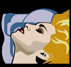 Madonna - digital art by Sandi Fender - created in adobe illustrator