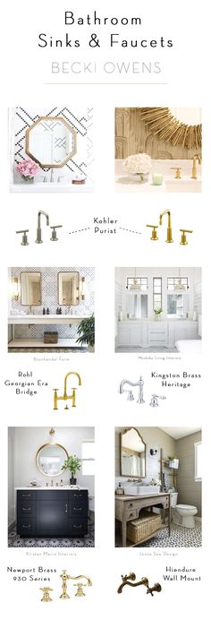 Bathroom Sinks and Faucets - Becki Owens