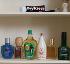 Old Fashioned colognes- I'm most interested in Old Spice and Aqua Velva, but curious about all of these scents. Shaving & Grooming, Wet Shaving, Male Grooming, Art Of Manliness, Classic Shaving, Shaved Hair Cuts, Brylcreem, Men's Aftershave, Bay Rum