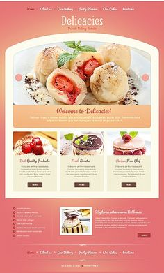 Delicacies Bakery Moto CMS HTML Templates by Delta