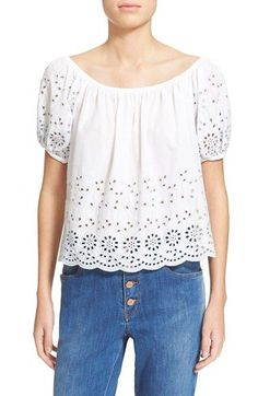 See by Chloé Broderie Anglaise Cotton Top available at #Nordstrom