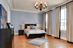 Gorgeous oak floors are the main attraction in this gorgeous Washington D.C. bedroom!