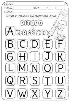DITATO ALFABÉTICO Spanish Classroom Activities, Preschool Worksheets, Preschool Activities, Kindergarten Reading, Professor, Literacy, Alphabet, Teaching, Writing