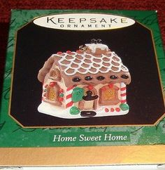 "1997 HALLMARK KEEPSAKE ""HOME SWEET HOME"" MINIATURE GINGERBREAD ORNAMENT NIB"