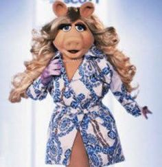Fashion icon Miss Piggy plays the editor of French Vogue in the new Muppets movie, and to promote the film, she's featured on the cov. Miss Piggy Muppets, Les Muppets, Kermit And Miss Piggy, Kermit The Frog, Kermit Face, Danbo, Jim Henson, Fraggle Rock, The Muppet Show
