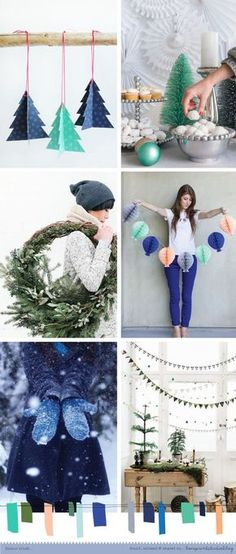 love print studio: a Christmassy Colour crush on the blog today...blues and greens with a hint of peachiness, yummy!