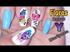 Decoración de uñas flores y mariposa/Decoración de uñas en color neon - YouTube Beauty, Youtube, Art Nails, Work Nails, Toe Nail Art, Glue On Nails, Pedicures, Feet Nails, Nail Designs