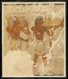 People of Keftiu (Cretans) bringing gifts. Orginal: 1504–1425 B.C. Tomb of Rekhmire, Thebes, Egypt.