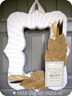 DIY Home Decor DIY Fall Crafts : DIY   Neutral Fall Wreath