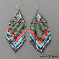 Украшения из бисера от Anabel: Этно-серьги с орнаментом - 141 / 365 (365 earrings)