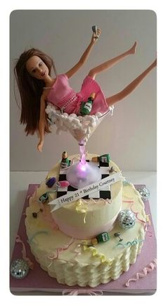 Drunken barbie cake