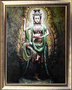 Hand Paint Buddha Oil Painting Art Work :