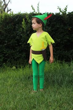 DIY Tutorial Disney Peter Pan costume Do It Yourself.  How to make it.  Great family, group, theme costumes!