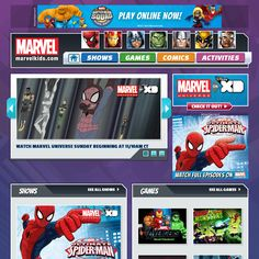 MarvelKids.com offers exciting Marvel online videos of your favorite animated episodes, characters, interactive online games, digital comics, activities including puzzles, mazes, coloring and drawing, and more for the entire family.