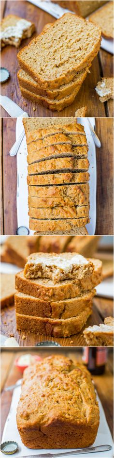 Honey Maple Beer Bread - The easiest bread ever! No kneading, no yeast, and guaranteed soft and fluffy results every time! Plus links to lots of other easy bread recipes! Scones, Bread Recipes, Cooking Recipes, Yummy Treats, Yummy Food, Beer Bread, Easy Bread, Croissants, Bread Baking