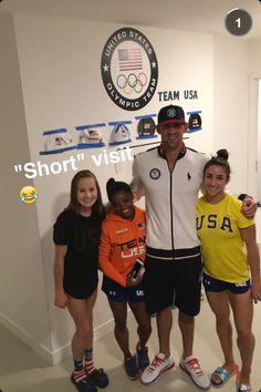 Just a quick visit tonight at the Olympic Village (via Conor Dwyer) # - Olympic Gymnastics Gymnastics Quotes, Gymnastics Team, Artistic Gymnastics, Olympic Gymnastics, Olympic Team, Olympic Games, Cheerleading, Gymnastics Funny, Gymnastics History