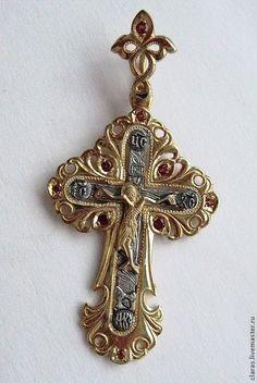 Купить Крест православный Бабочка золотая - золотой, красивый крест, крест православный, позолоченный, бабочка