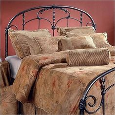 Queen Headboard in Old Brushed Pewter -- Details can be found by clicking on the image.