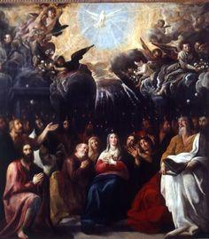 De nederdaling van de Heilige Geest door Juan de Roelas, ca. 1615