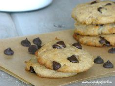 Chocolate Chip Cookies  (Grain free and Egg free)  www.kateshealthycupboard.com